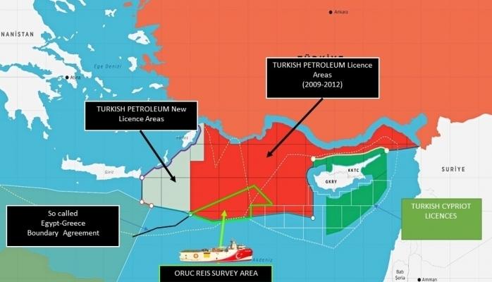 Türkiye Oruç Reis'in Faaliyet Haritasını Yayınladı