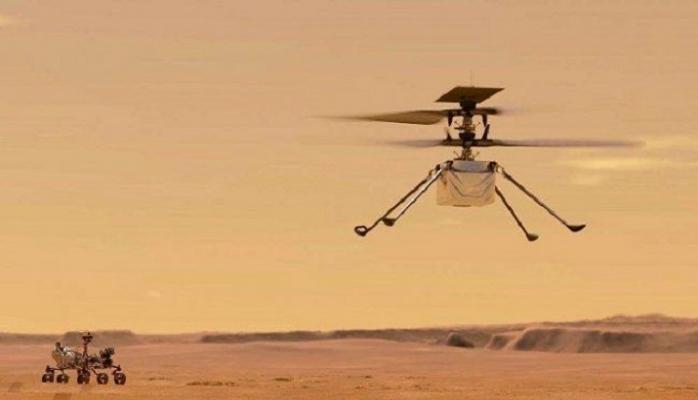 Mars'ta İlk Helikopter Uçuşu Başarıyla Tamamlandı
