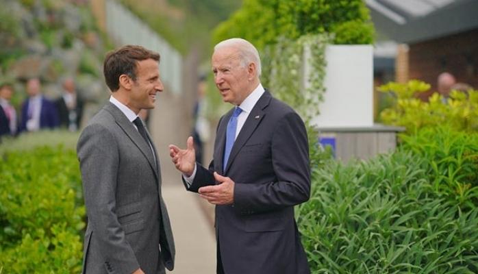 G7 Zirvesinde Biden'dan Macron'la birlikte ağır mesaj