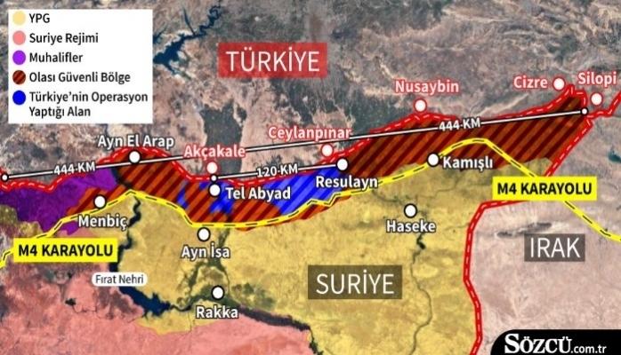 110 saatte 700-800 YPG'li çekildi! 1200 terörist için kalan süre 10 saat