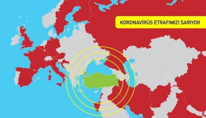 Koronavirüsü ülkeyi resmen felç etti