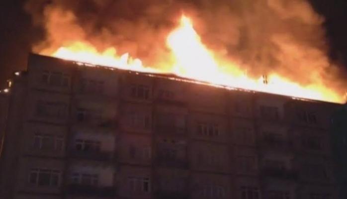 Elazığ'daki deprem sonrası yangın!
