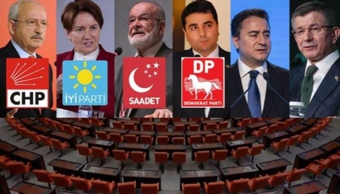 6 muhalefet partisi yeni maddelerde uzlaştı: İşte çalışmada son durum!