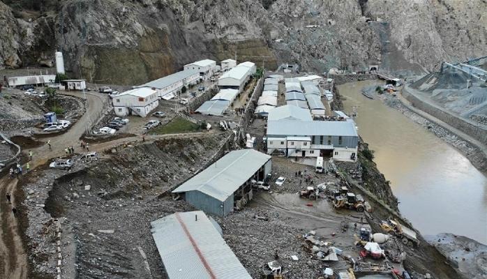 Selin vurduğu Yusufeli Barajı şantiyesi böyle görüntülendi