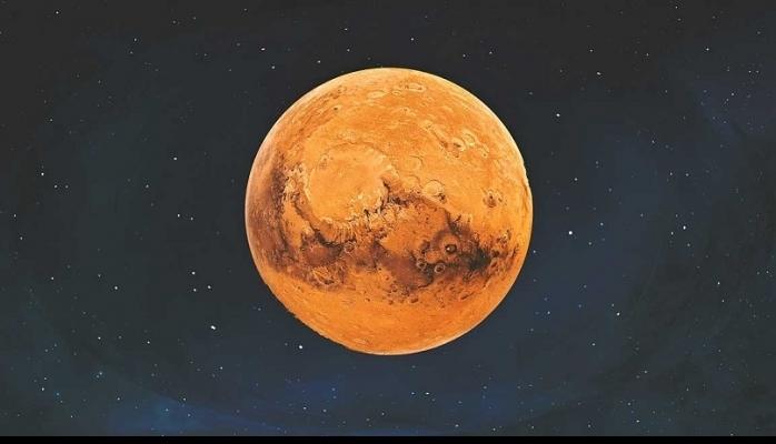 Kızıl Gezegen'de lastik izleri