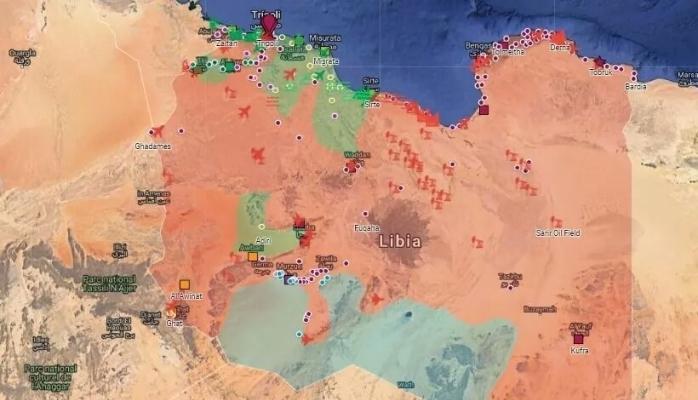 Libya'da son durum haritası