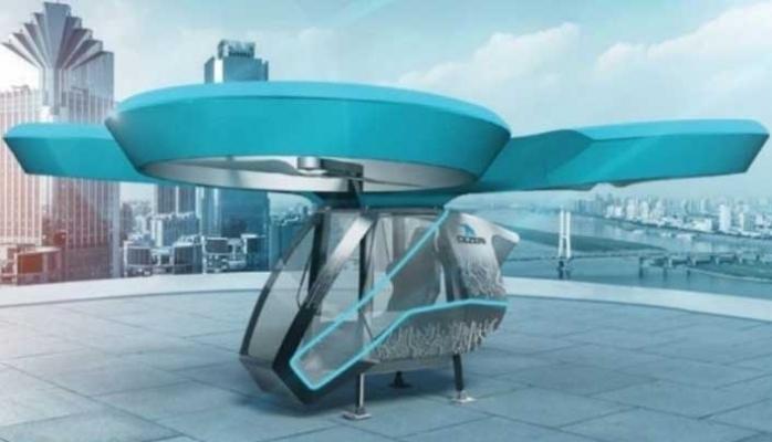 Uçan Araba Cezeri'nin TEKNOFEST'ten ilk görüntüleri